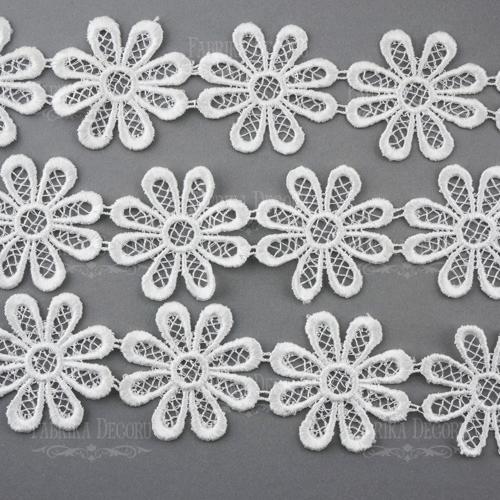 Encaje flor 6,5 mm