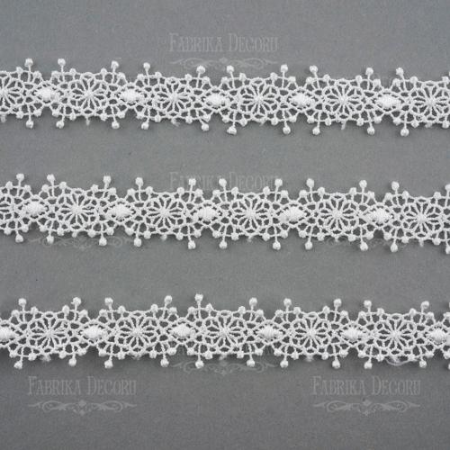 Encaje blanco 20 mm