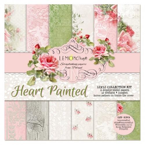 Set Papier 30x30cm Coeur Paint