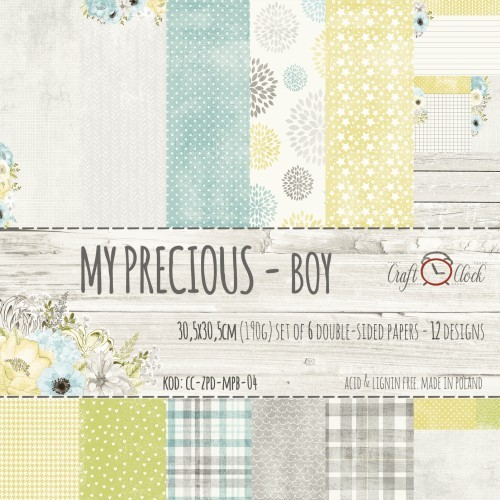 Set de papeles My precious boy  30,5 * 30,5