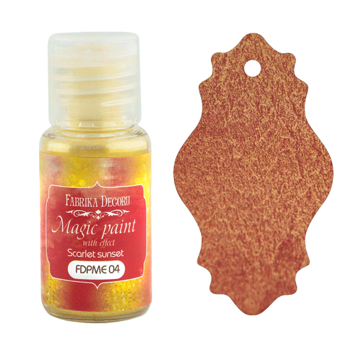 "Dry paint Magic paint with effect"" color ""Scarlet sunset"", 15ml"""