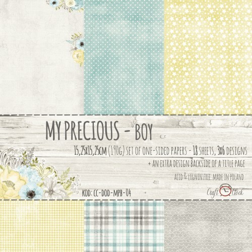 MY PRECIOUS - BOY - A SET OF PAPERS 15,25X15,25CM