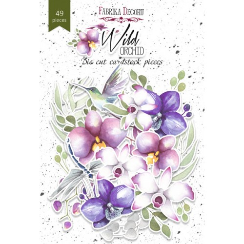 "Set of die cuts Wild Orchid ""49 pcs"""