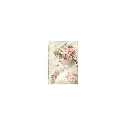 Rice Paper A4 Floral Profile Roses - Stamperia