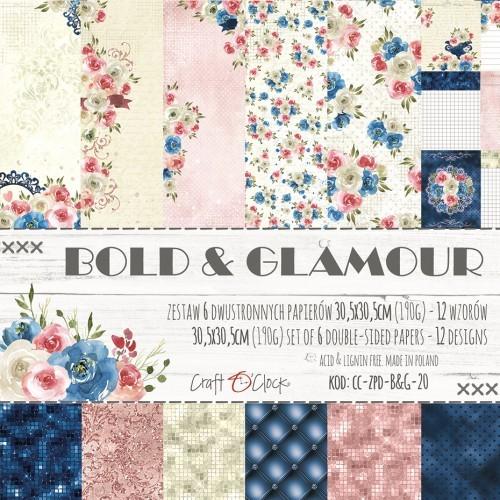 Set de papeles -Bold & Glamour -30,5 x 30,5