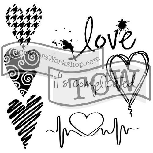 """Stencil """"I Love"""" - Gabrielle Pollacco-"""