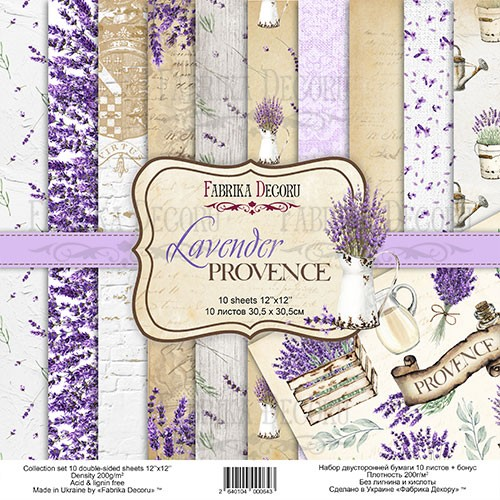 "Set of scrapbooking ""Lavender Provence"""