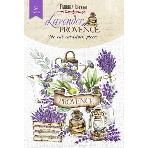 Set of die cuts Lavender Provence 54 pcs