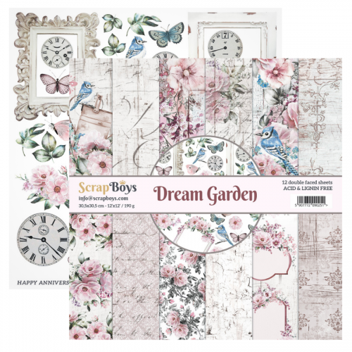 "Set de papeles ""Dream Garden"" 30,5 * 30,5"