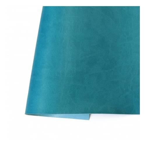 Ecopiel mate - Azul Turquesa  35x50 - Kora Projets