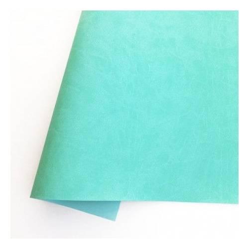 Ecopiel mate - Verde menta -35x50 cm - Kora Projets