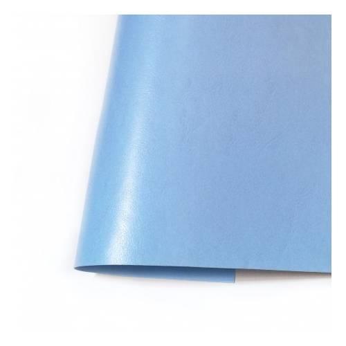 Ecopiel satinada - Azul cielo - 35x50 cm- Kora Projets