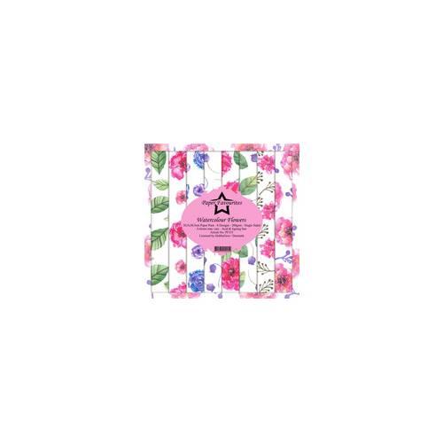 """Kit de papeles Watercolour Flowers 12x12"""" - Paper Favourites"""