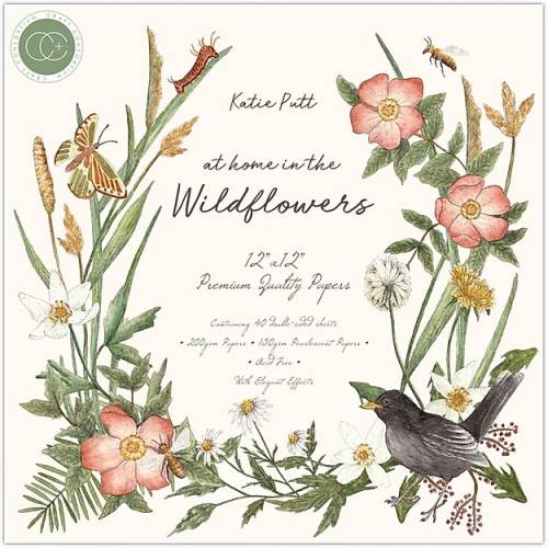 """Kit de papeles At Home in the Wildflowers 12x12"""" - Craft Consortium"""