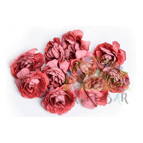 Flores Vintage Rose Head 6 pcs