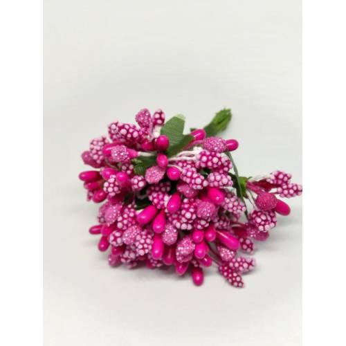 Estambres con flor, color rosa fucsia
