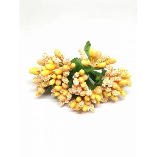 Estambres con flor, color naranja claro