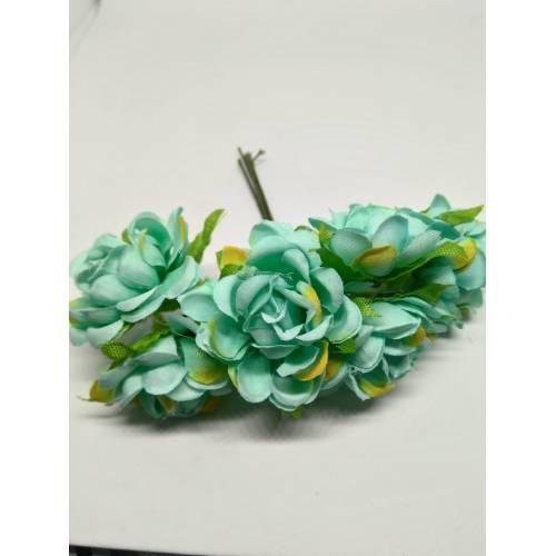 Ramillete de flores color mint