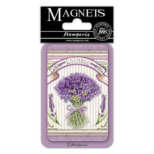 Imán Lavender Bouquet 8x5.5 - Stamperia