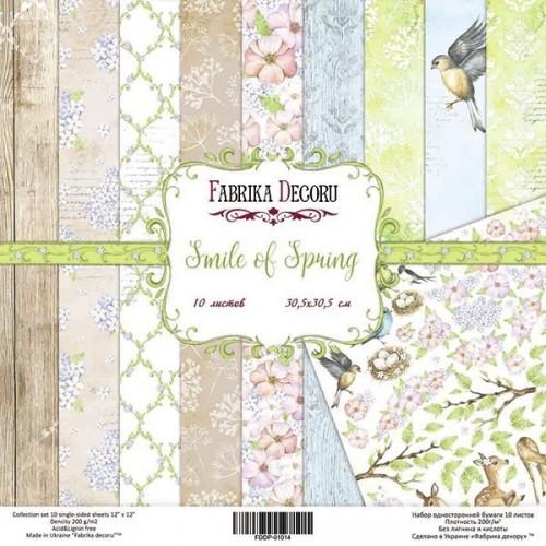 "Set of scrapbooking paper Smile of spring"""
