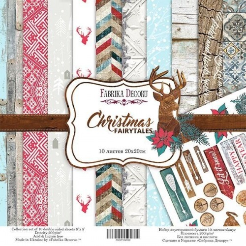 Set of Scrapbooking paper Christmas Fairytales