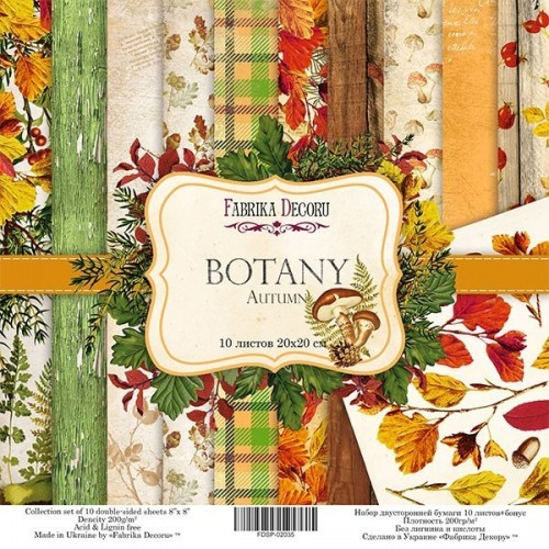 Double-sided scrapbooking paper set  Botany autumn""