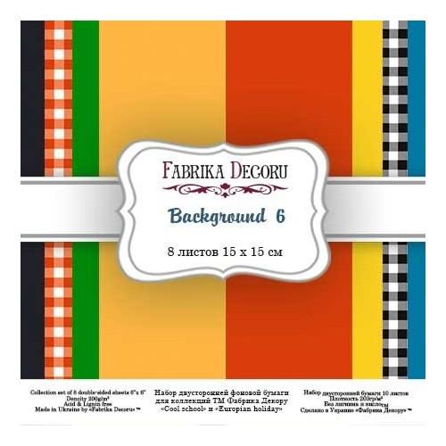 "Scrapbooking paper set ""Backgrounds 6"", 6"" x 6"""