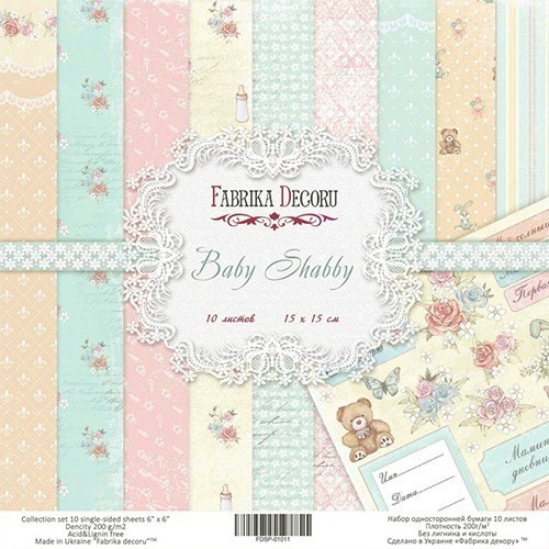 Set of scrapbooking paper Baby Shabby