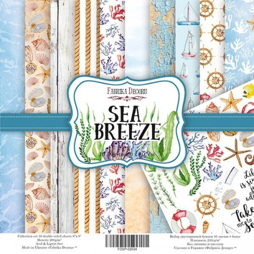 Scrapbooking paper set  Sea Breeze