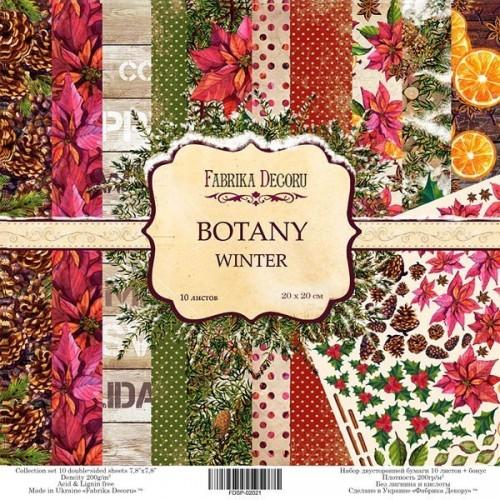 "Scrapbooking paper set ""Botanica winter"