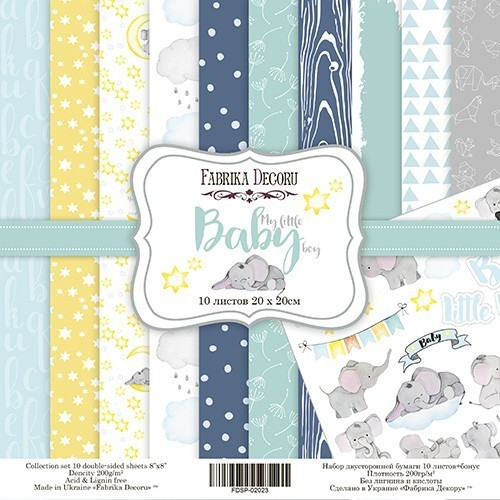 "Scrapbooking paper set ""My little baby boy"