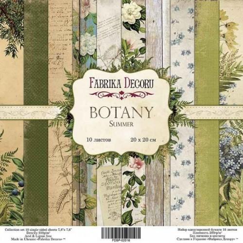 Set of scrapbooking paper Botany summer