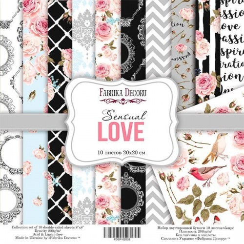 Scrapbooking paper set  Sensual Love