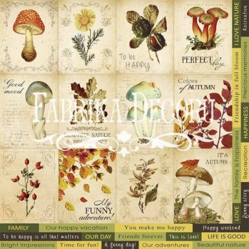 "Pictures for decoration. ""Botany autumn""."""