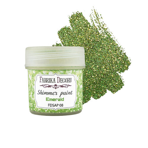 Shimmer paint. Color Emerald