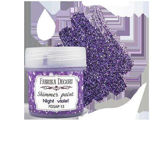 Shimmer paint. Color Night violet