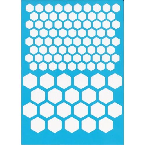 """Stencil """"Paneles de abeja"""""""