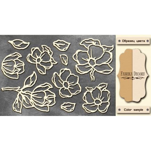 Chipboards set Magnolia sky 1""""