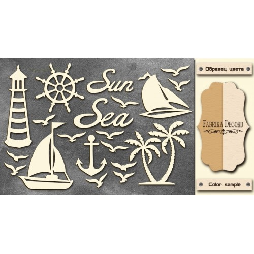 Chipboards set Sea""""