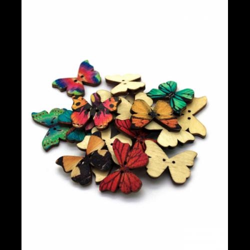 Botón Mariposa Color