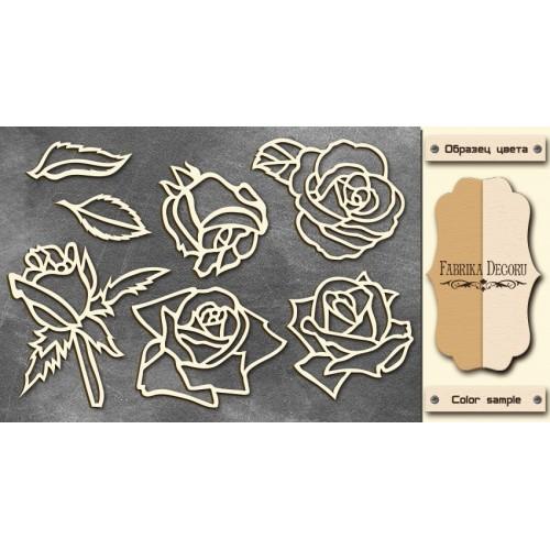 "Chipboards set Roses"""""