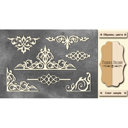 Chipboards set Monograms 2""""